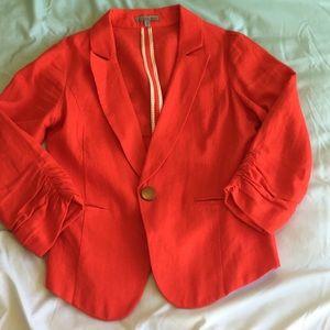 Coral linen Charlotte rousse blazer